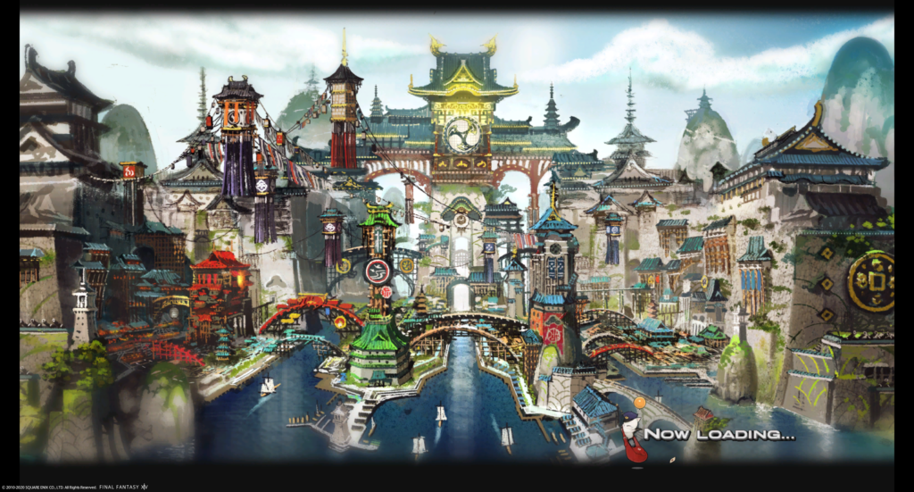A picture on the road of The Kugane